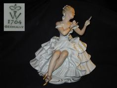 Porzellanfigur Tänzerin Ballerina Wallendorf
