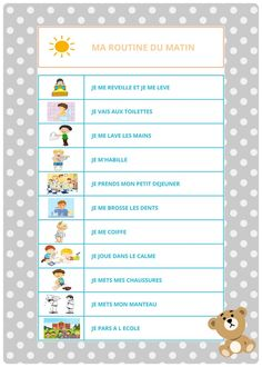 Les routines des petits : MATIN et SOIR – Les Inspirations de Julie - #de #des #Inspirations #Julie #Les #matin #petits #Routines #Soir At Home Workout Plan, At Home Workouts, French Classroom, I Can Do It, Julie, French Language, Baby Love, Montessori, Children