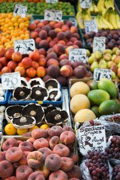 UK, Norwich, fresh fruits at market stall
