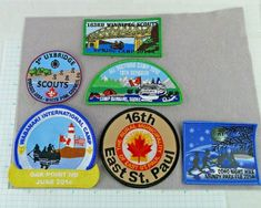 Lot of 6 Boy Scout Badges Patches Camps Night Hike Council District Canada Cub Scout Badges, Cub Scouts, Boy Scout Patches, Scouts Of America, Scout Camping, Winter Camping, Spring Is Coming, Vintage Men, Craft Supplies