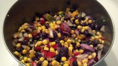 black bean corn salad recipe #healthy