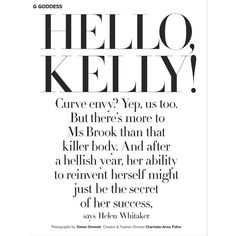 hello kitty kelly brook by simon emmett for glamour uk february 2012 ❤ liked on Polyvore featuring text, articles, backgrounds, print, magazine, phrase, quotes and saying