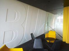 Typography  interior design by Büro Uebele