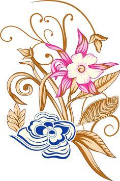 Zr on Behance Hd Flowers, Vector Flowers, Botanical Flowers, Flowers Nature, Floral Flowers, Vintage Flowers, Botanical Illustration, Illustration Art, Flower Art Images