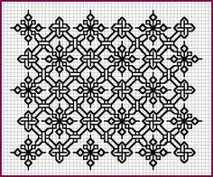 Als je van blackwork houdt met borduren, dan kun je hier een heleboel inspiratie vinden..  Ik vind de Elizabethan Blackwork site een erg...
