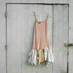 long tee and tattered scrap skirt