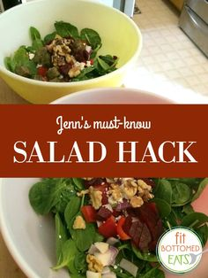 One ridiculously simple trick has made ALL the salad-eating difference. | Fit Bottomed Eats