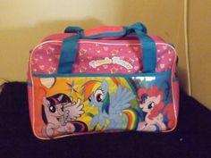 new My Little Pony large satchel book bag school supply Pinkie Pie Rainbow Dash #MyLittlePonyHasbro #MessengerShoulderBag