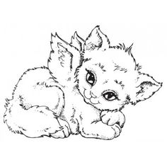 angel kitten coloring pages | 65 Best Cat angels images in 2018 | Crazy cats, I love ...