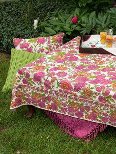 Floribunda Tablecloth   Ecru | Table Linens U0026 Kitchen, Tablecloths  :Beautiful Designs By April
