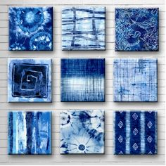 Excellent No Cost Indigo Tie Dye Batik Glass Wall Art - Handmade Decoupage 8 or 9 inch Set of 9 Square Glass Wall Blocks - I've got the Blues Strategies With this easy reservoir top dress, I chose to use a dark shade, a nickel color, and a bordeaux. How To Tie Dye, How To Dye Fabric, Fabric Art, Fabric Dyeing Techniques, Tie Dye Crafts, Glass Wall Art, Tye Dye, Art Plastique, Textile Art