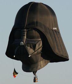 Cool Darth Vader shaped hot air balloon created by Belgian Star Wars fan Benoit Lamber