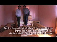 Massivholzbett aus Franken, aufgebaut in Rheinhessen http://nhblog.de/nl103pi/