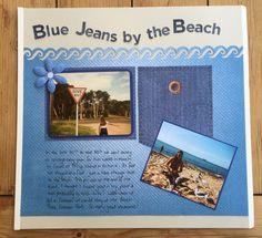 Quick & Simple Denim Blues Cards & Scrapbook Page Idea
