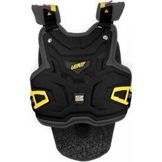 Leatt Adventure Lite Vest Adult Roost Deflector Off-Road Motorcycle Body Armor – Black