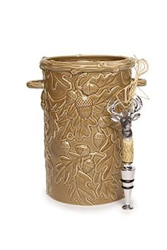 Oak Leaf Wine Cooler with Deer Topper -- Want to know more, click on the image.