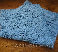 Ravelry: SweaterBabe's Simply Divine Baby Blanket