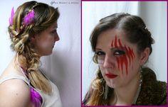 indiánský účes a make-up