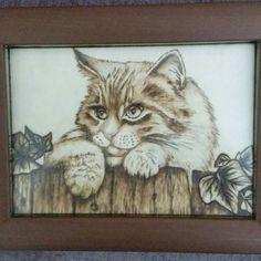 Kedi. .  ahşap yakma resimlerimden. .  #ahsapdaglama #el emeklerim #pyrography #instagram #hamamönü #sergi #etkinlik #etkinlikpaylasimi #elişi #woodburning #hobi #annelergünü #sevgililergünü #engüzel hediye #babalargünü #hediye #hediyelik #armağan