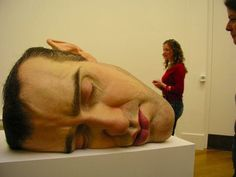 Ron Muek is a London-based artist, makes giant photo-realist Human sculptures.