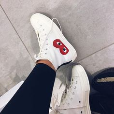 Christmas shopping for myself *hint* 🙃 Comme des Garçons Japan x Converse Sock Shoes, Cute Shoes, Me Too Shoes, Shoe Boots, Cdg Converse, Outfits With Converse, Sneakers Fashion, Shoes Sneakers, Aesthetic Shoes