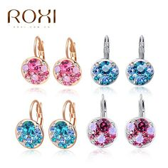 ROXI Brand Top Quality Earrrings For Women Delicate Zircon Earrings Gift Jewelry for Women Girlfriend Fashion Ear Stud Earrings *** You can find more details by visiting the image link.