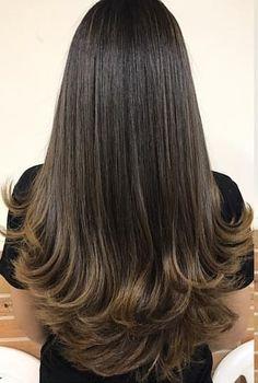 28 ideas haircut capas largas for 2019 Long Layered Haircuts, Haircuts For Long Hair, Long Hair Cuts, Hairstyles Haircuts, Pretty Hairstyles, Long Hair Styles, Hair Color For Morena, Brunette Hair, Hair Lengths