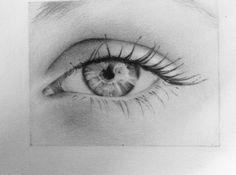 I drew an eye for my fashion design teacher! I used only pencils (2h-2b).