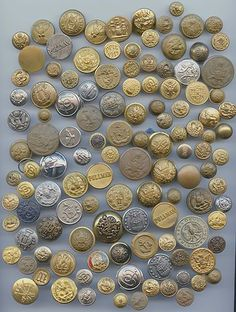 SOLD: 220 Uniform buttons..antique and vintage buttons