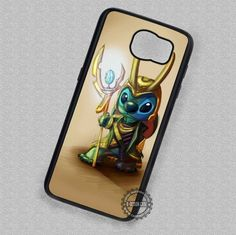 Cute Drawing Stitch Loki of Asgard - Samsung Galaxy S7 S6 S5 Note 7 Cases & Covers