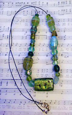 Handmade Green Beaded Necklace by Jaceyscreations on Etsy, £8.00 #etsy #etsyrmp
