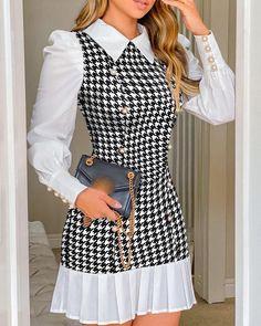 Fall Dresses, Fall Outfits, Short Dresses, Dresses For Work, Dresses Dresses, Mini Dresses, Fashion Dresses, Dresses With Sleeves, Trend Fashion