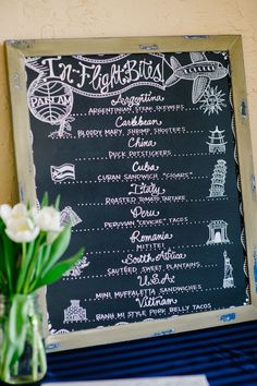 Around the world wedding menu! Great for the adventurous couple out there!