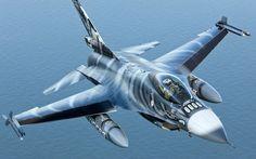 海の戦闘機F-16AMオーバー 壁紙 - 1920x1200