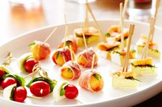 This classic canape trio is sure to put a smile on your friends' faces at your next dinner party.