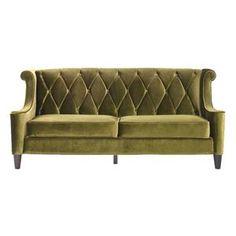 Nebraska Furniture Mart – Armen Art Furniture Barrister Sofa in Green Velvet