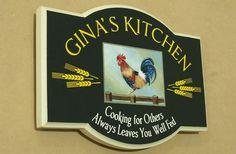 Gina's Kitchen House Sign   Danthonia Designs