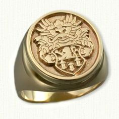 Custom Designed Signet Rings And Family Crest Rings By