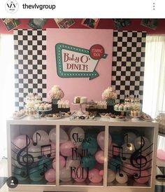 Baby Shower Decorations For Boys Table First Birthday Parties 52 Ideas For 2019 1950s Theme Party, 50s Theme Parties, Diner Party, Vintage Birthday Parties, Retro Birthday, Retro Party, 50th Birthday Party, Retro Baby Showers, Baby Q Shower