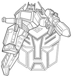 Optimus Prime free coloring pages for kids