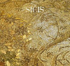 Chardin Gold. Panel 155x225 cm from the Sicis Gold Collection. #Mosaic #Architecture #InteriorDesign