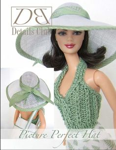 """Sewing pattern for 11 1/2"""" doll (Barbie): Picture Perfect Hat"""