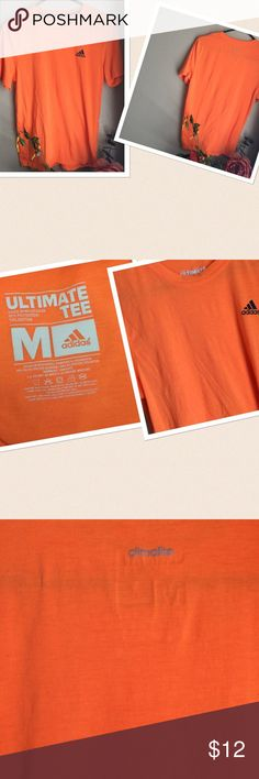 Adidas Climalite Tee Final Price: Adidas Climalite Tee. Size: Medium. Color: Orange. Gently worn. If this condition is not right for you do not purchase. Adidas Tops Tees - Short Sleeve