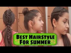 Basic Hairstyles, Latest Hairstyles, Summer Hairstyles, Girl Hairstyles, French Hair, H Style, Makeup Youtube, College, Easy Hairstyle