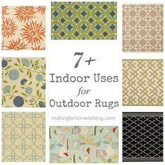 Outdoor rugs aren't just for patios anymore! Check out why they make perfect sense indoors as well. #rugs #flooring #familyfriendlydecorating