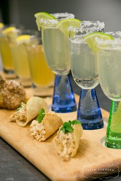 Mini Pulled Chicken Tacos and Margaritas by D'Amico Catering, via Flickr