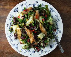 Smoked mackerel, potato and baby chard salad with pickled cucumbers by Food Stories, via Flickr
