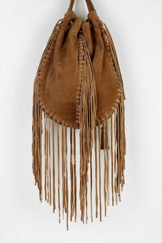 Ecote Suede Fringe Shoulder Bag – Shoulder Travel Bag