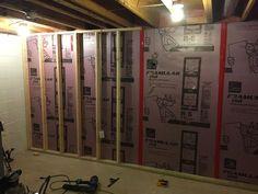 How To Finish A Basement On A Budget Basement framing basement walls Framing Basement Walls, Basement Layout, Basement Windows, Basement Bedrooms, Basement Flooring, Basement Bathroom, Basement Ideas, Basement Plans, Walkout Basement