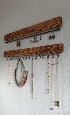Bathroom Hooks, Etsy, Stripes, Ear Rings, Clock, Wristlets, Chains, Timber Wood